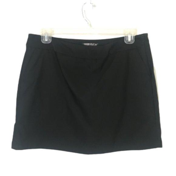 Nike Golf Skirt Built-In Short Black Pockets 14
